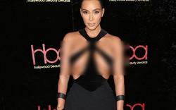 Hết hồn với bộ đầm của Kim Kardashian: Chẳng muốn nói đâu nhưng mặc thế này thì khác gì là không mặc!
