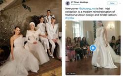 BST váy cưới PHUONG MY xuất hiện trên hàng loạt báo Mỹ sau New York Fashion Week Bridal