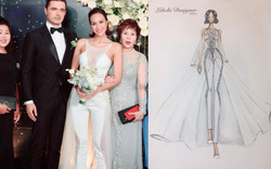 Lần đầu tiên tại Vbiz cô dâu mặc jumsuit cưới, táo bạo nhất là chi tiết xuyên thấu ngay vòng 1 cực sexy