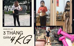 Thật 100%: Cô nàng này mất 3 tháng để giảm 4kg mỡ toàn thân, chấm dứt tình trạng bụng vượt ngực