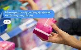 Nhờ bố mua hộ băng vệ sinh vì cửa hàng sắp đóng cửa, câu trả lời khiến cô con gái cười chảy nước mắt, còn dân mạng đua nhau thả tim