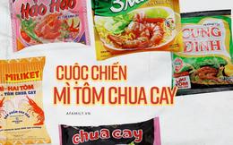 Review cực nhanh giá cả các loại mì ăn liền có hương vị tôm chua cay quen thuộc