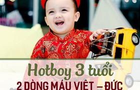 Hotboy 3 tuổi 2 dòng máu Việt  Đức hot nhất MXH