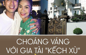 """""""Choáng váng"""" với biệt thự dát vàng nhà chồng Hà Tăng"""