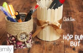 Siêu cute với ống bút tái chế từ vỏ lon