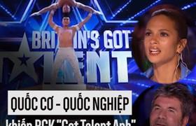 """Hoàng tử xiếc Quốc Cơ - Quốc Nghiệp khiến BGK """"Got Talent Anh"""" há hốc mồm kinh ngạc"""