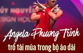 Angela Phương Trinh trổ tài múa trong bộ áo dài trị giá 100 triệu