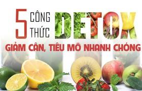5 công thức detox giảm cân, tiêu mỡ nhanh chóng