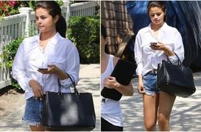 Selena Gomez khoe chân nuột nà với sooc ngắn
