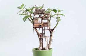Chiêm ngưỡng những ngôi nhà mini trên cây sống động đến từng chi tiết