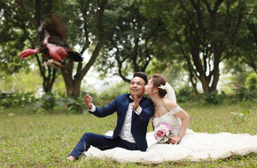 Ảnh cưới chụp chung với