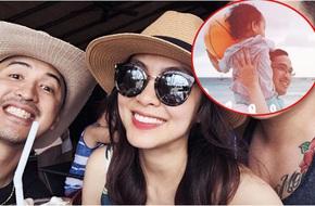 Tăng Thanh Hà cười tươi hạnh phúc khi đi du lịch Philippines cùng ông xã và con trai