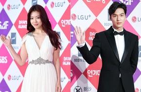 """Lee Min Ho, Park Shin Hye """"khuấy động"""" thảm đỏ SBS 2016"""