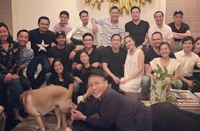 Tăng Thanh Hà bụng bầu to tươi tắn trong sinh nhật của chồng