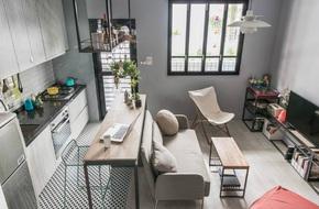 Cứ bố trí thông minh như căn hộ 30m² này thì sống tiện nghi trong nhà chật là hoàn toàn có thể