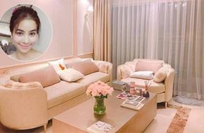 Ngắm căn hộ góc nào cũng lãng mạn và ngọt ngào với hoa tươi của hoa hậu Phạm Hương