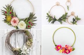 4 cách tự làm vòng hoa treo tường trang trí nhà thêm ấn tượng