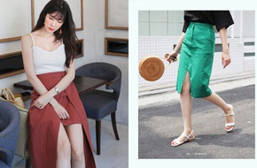Hết 'xẻ ngang rồi lại xẻ dọc' giờ chân váy phải xẻ đúng chính giữa mới là hợp mốt
