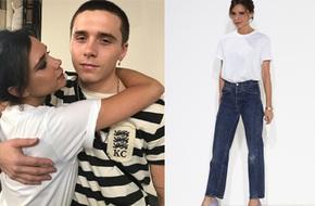 Victoria Beckham diện quần jeans, áo phông trắng đơn giản khi ra mắt BST mới