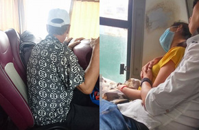 Một chiếc ghế xe khách, hai người đàn ông ngồi: Người cùng vợ đi nghỉ mát, kẻ dắt người yêu đi phá thai