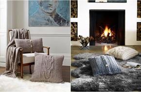 Trang trí phòng khách với gối tựa lưng bằng len siêu đẹp