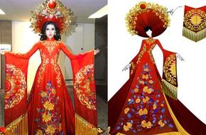 Á hậu Huyền My hé lộ bộ quốc phục nặng 30kg sẽ trình diễn tại Miss Grand International 2017