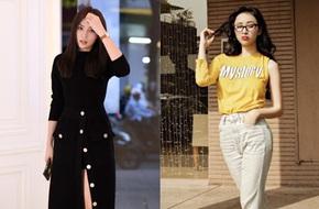 """Hơn nhau có 1 tuổi, Kỳ Duyên chọn """"cây đen"""" già dặn còn Angela Phương Trinh vẫn nhí nhảnh trong street style tuần qua"""