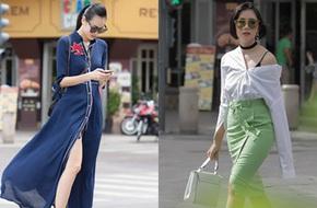 Street style cuối tuần: Quý cô hai miền - người lấp ló chân thon dài, người khoe vai trần cá tính