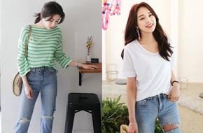 Lên đồ với áo phông và quần jeans, chỉ có đẹp chứ không bao giờ xấu nhé!