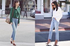 Quần jeans và Giày cao gót - bộ đôi giúp mọi nàng công sở trông bắt mắt tới bất ngờ