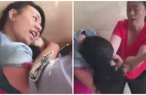 Vợ túm tóc, đạp vào vùng kín bồ nhí của chồng mặc cảnh sát can ngăn