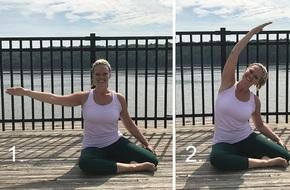 Bài tập Pilates 5 phút dành cho những người phải ngồi nhiều cả ngày