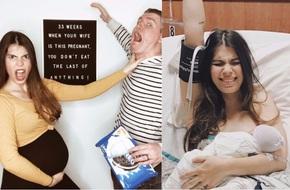 """Mẹ bầu tiết lộ """"sự thật trần trụi"""" của quá trình mang thai trong bộ ảnh thai kỳ vui nhộn"""
