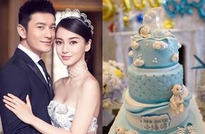 Vợ chồng Angelababy - Huỳnh Hiểu Minh tưng bừng tổ chức 100 ngày sinh quý tử
