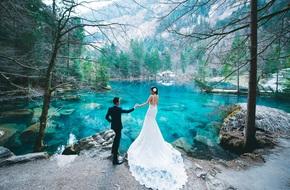 Ảnh cưới tại hồ xanh, núi trắng Thụy Sĩ đẹp hơn cả Maldives của cặp đôi Việt kiều
