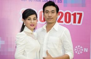 Cát Phượng áo dài trắng dịu dàng, e ấp bên tình trẻ Kiều Minh Tuấn
