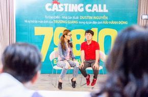 Dustin Nguyễn ngồi bệt đất xem Trường Giang