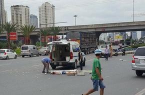 Hà Nội: Va chạm với xe bồn, cô gái trẻ chết thương tâm trên đại lộ Thăng Long
