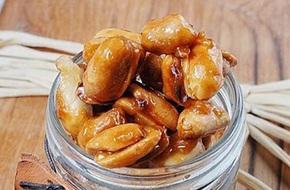 Đậu phộng caramen món ăn vặt tuyệt ngon
