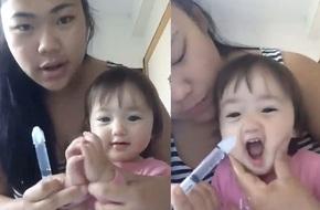 Clip mẹ rửa mũi cho con: cứ tưởng tranh cãi gay gắt, ai ngờ lại