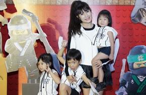 Loạt gia đình sao Việt nô nức
