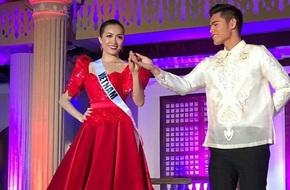 Lệ Hằng đẹp nổi bật khi trình diễn quốc phục Philippines ở Hoa hậu Hoàn vũ