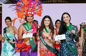 Tự tin hát tiếng Anh, Hà Thu giành huy chương phần thi tài năng Miss Earth