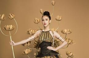 Hà Thu đẹp lộng lẫy bên bộ trang phục dân tộc lạ mắt tại Miss Earth 2017