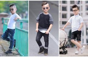 Cậu bé 7 tuổi vừa dễ thương như trai Hàn, lại vừa ngầu như mẫu nhí Tây