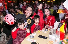 3 nhóc tỳ nhà MC Phan Anh lớn phổng phao khi diện áo dài đỏ