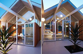Ngôi nhà sử dụng tới 70% chất liệu gỗ đẹp đến không thể rời mắt