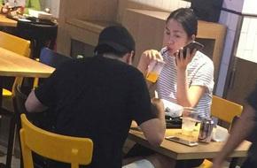 """Lộ ảnh Tăng Thanh Hà vác bụng bầu sắp """"vỡ chum"""" đi ăn cùng ông xã Louis Nguyễn"""