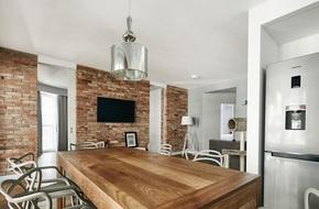 Thay đổi kết cấu của những bức tường, căn hộ này đem đến cho bạn vô vàn ý tưởng sáng tạo