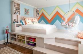Thiết kế giường giật cấp giúp phòng ngủ nhỏ vừa rộng hơn lại vừa đẹp 'miễn chê'
